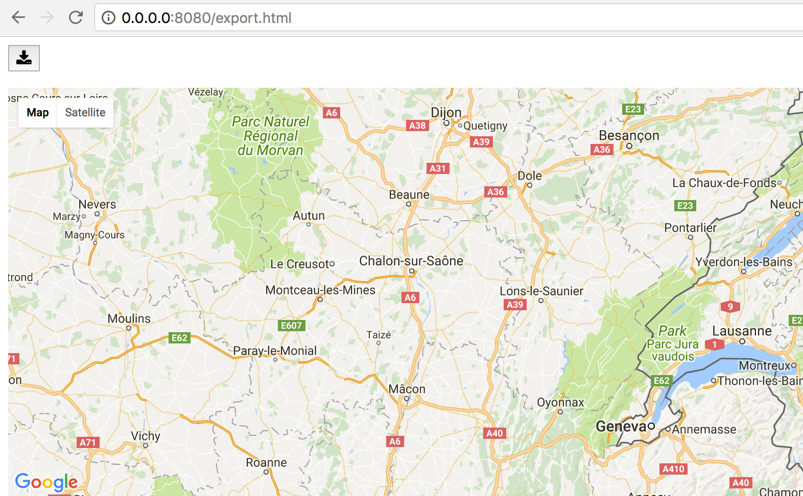 Exporting maps — gmaps 0 8 3-dev documentation