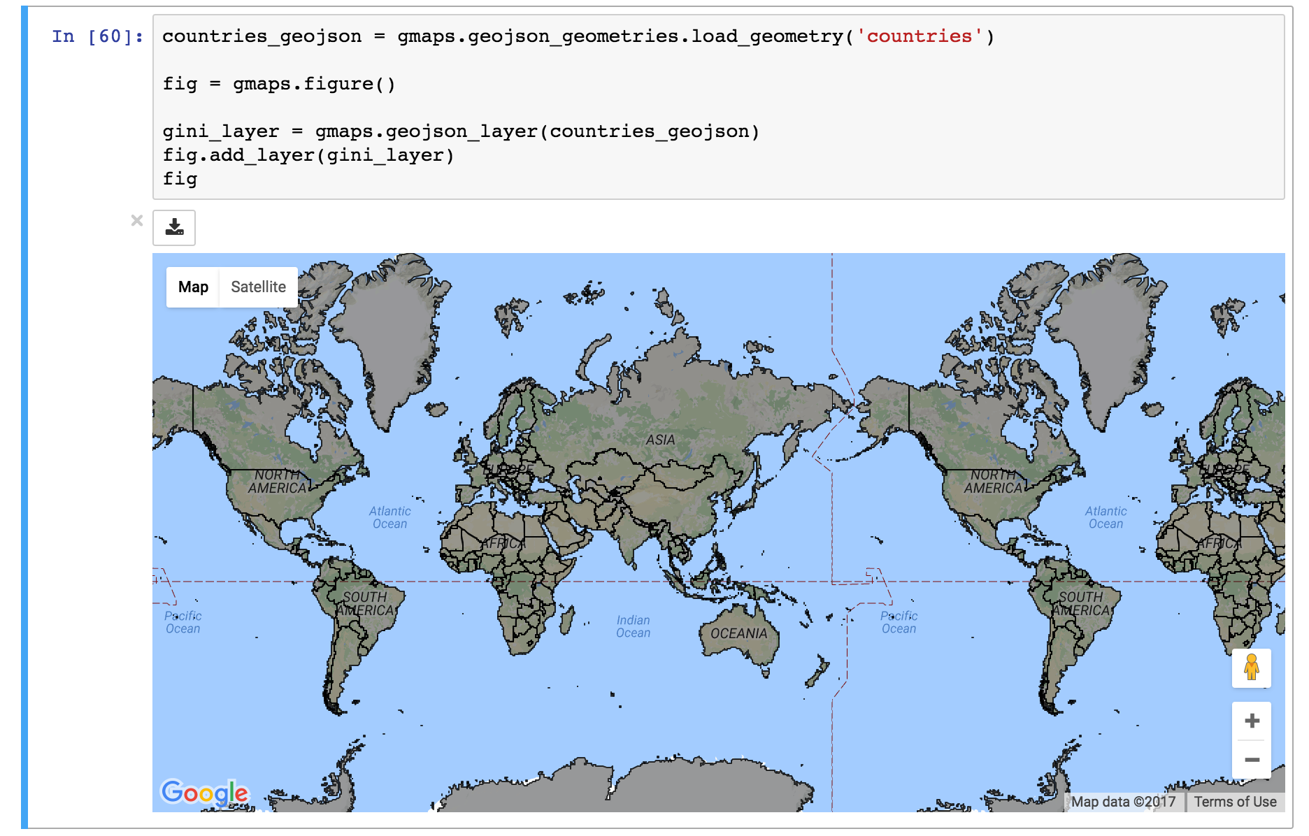 Getting Started  Gmaps Dev Documentation - Us counties json